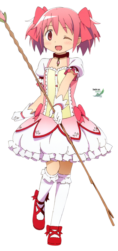 Puella Magi Madoka Magica Madoka 1 Render By Anouet Deviantart Com On Deviantart Puella Magi Madoka Magica Madoka Magica Mahō Shōjo Madoka Magica