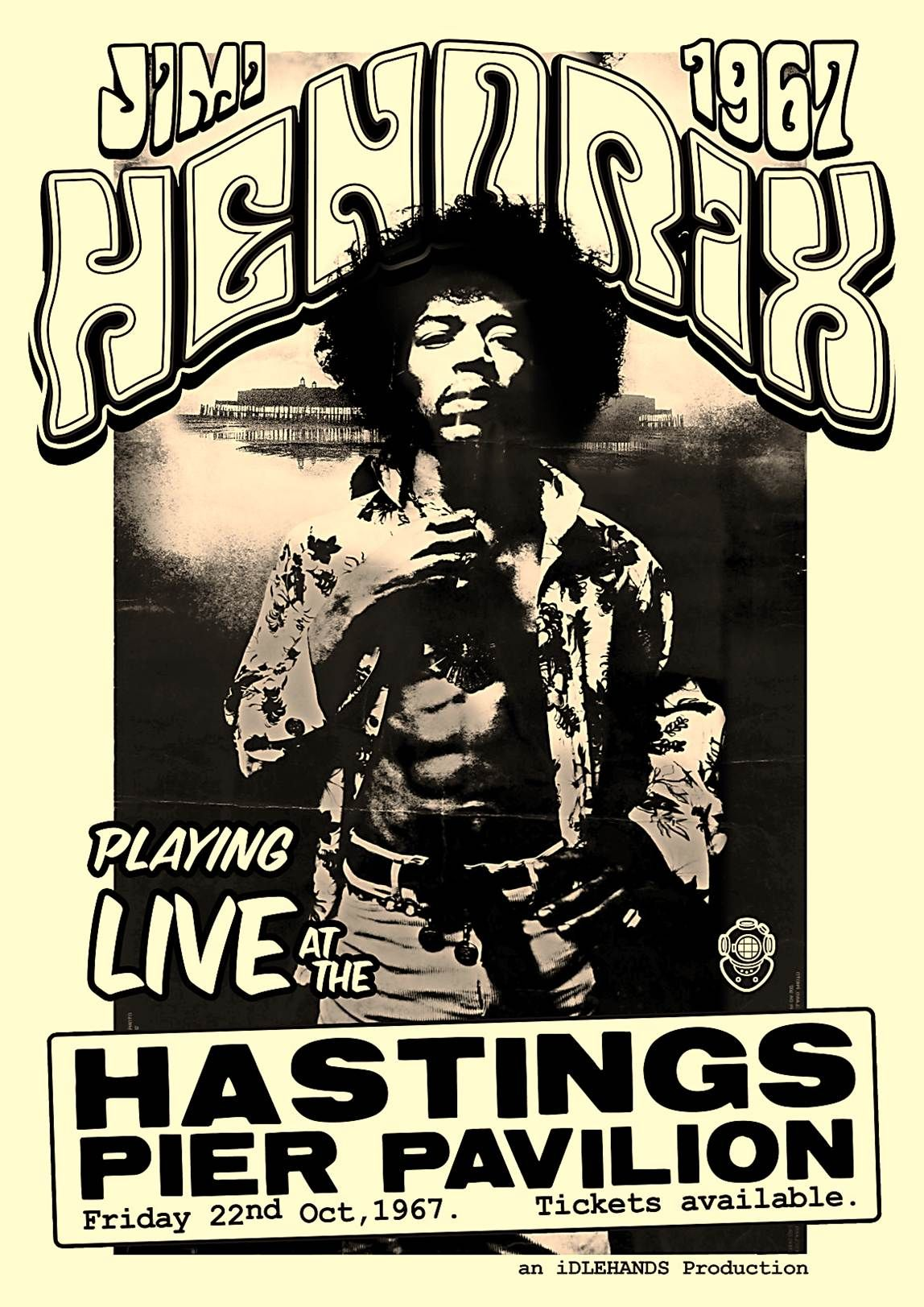 Jimi Hendrix Appeared On Hastings Pier In 1967
