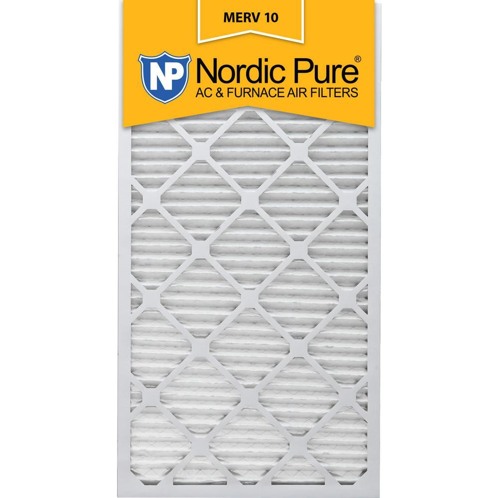 Nordic Pure 12 In X 30 In X 1 In Pleated Merv 10 Fpr 7 Air Filter 3 Pack In 2020 Furnace Filters Pure Products Air Filter Sizes