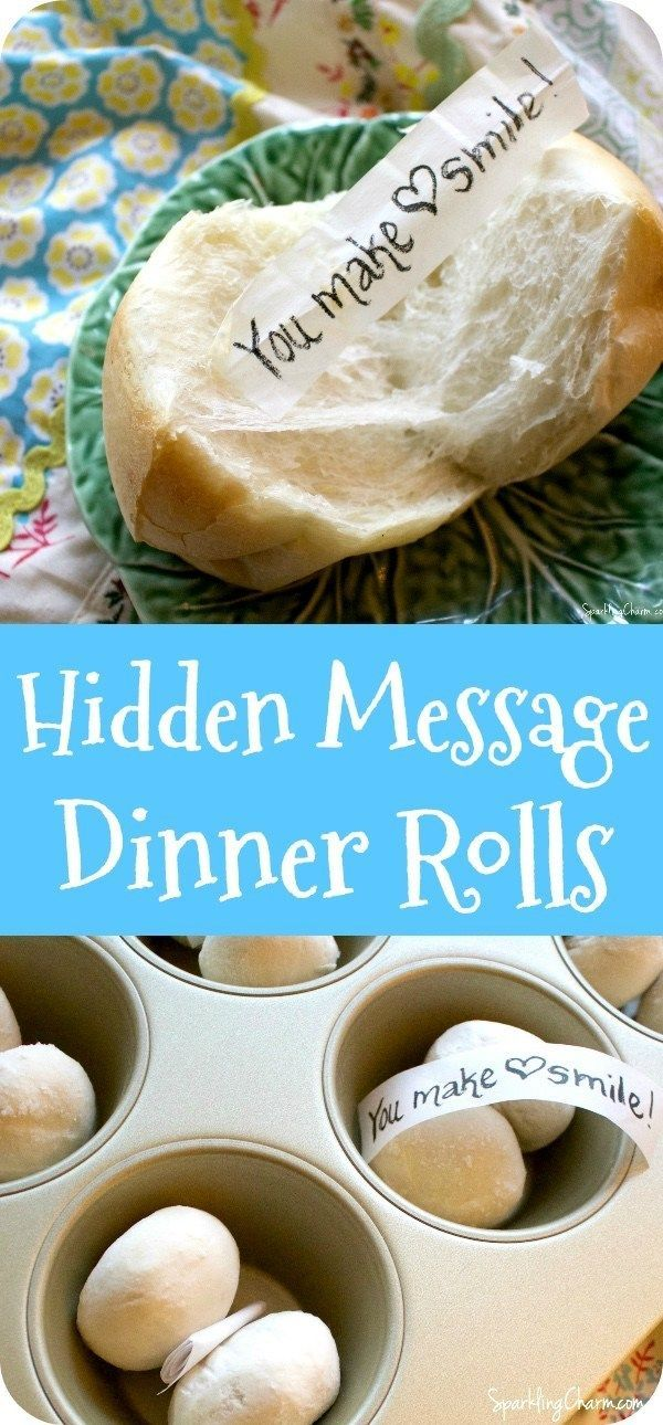 Hidden Message Dinner Rolls. This is a super fun thing to do for those you love anytime of year. ...But Christmas Dinner, Friendsgiving, Easter Dinner, and Thanksgiving Dinner are especially perfect opportunities. #friendsgivingideas #friendsgivingdinner #Christmasdinner #thanksgivingdinner #birthdaydinner #fall #autumn #dinnerrolls #EasterDinner #chiristmas dinner roast Hidden Message Dinner Rolls - Sparkling Charm