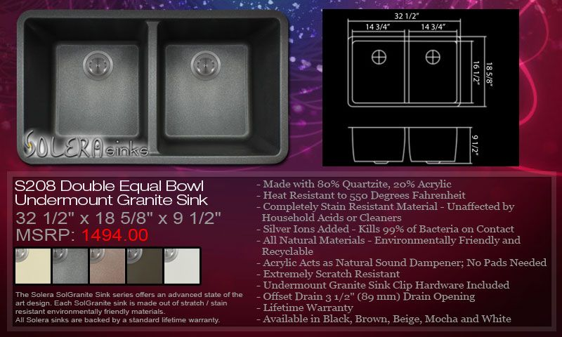 Solera S208 Granite Sink Granite Sink Sink How To Make Bows