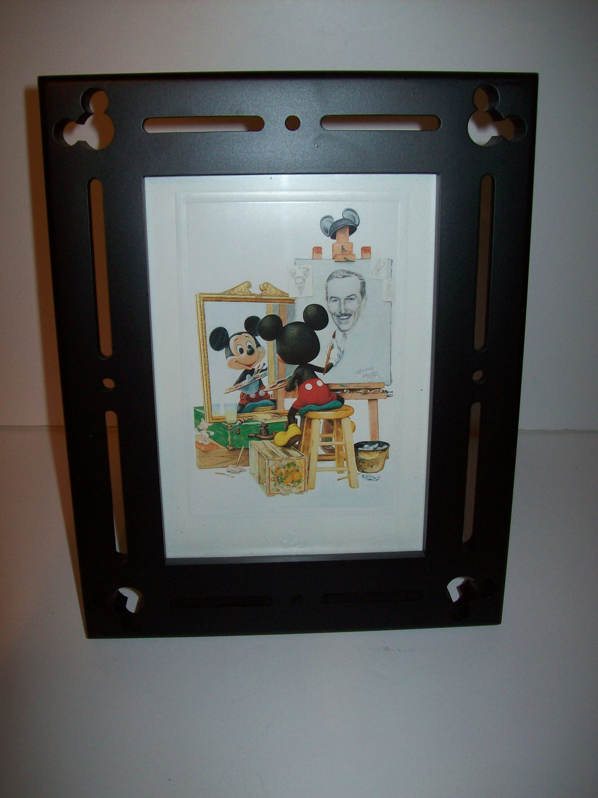 Mickey Mouse Self Portrait And Frame