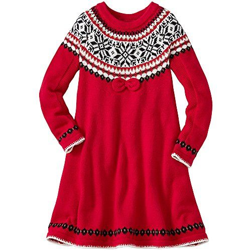 Hanna Andersson Big Girl Girls Snö Happy Sweater Dress, Size 130 ...