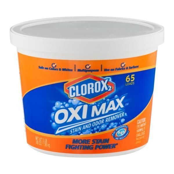 Clorox 2 Oxi Max Stain And Odor Remover Safe On Colors Whites 65 Loads 3 Lb Stain Odor Remover Clorox