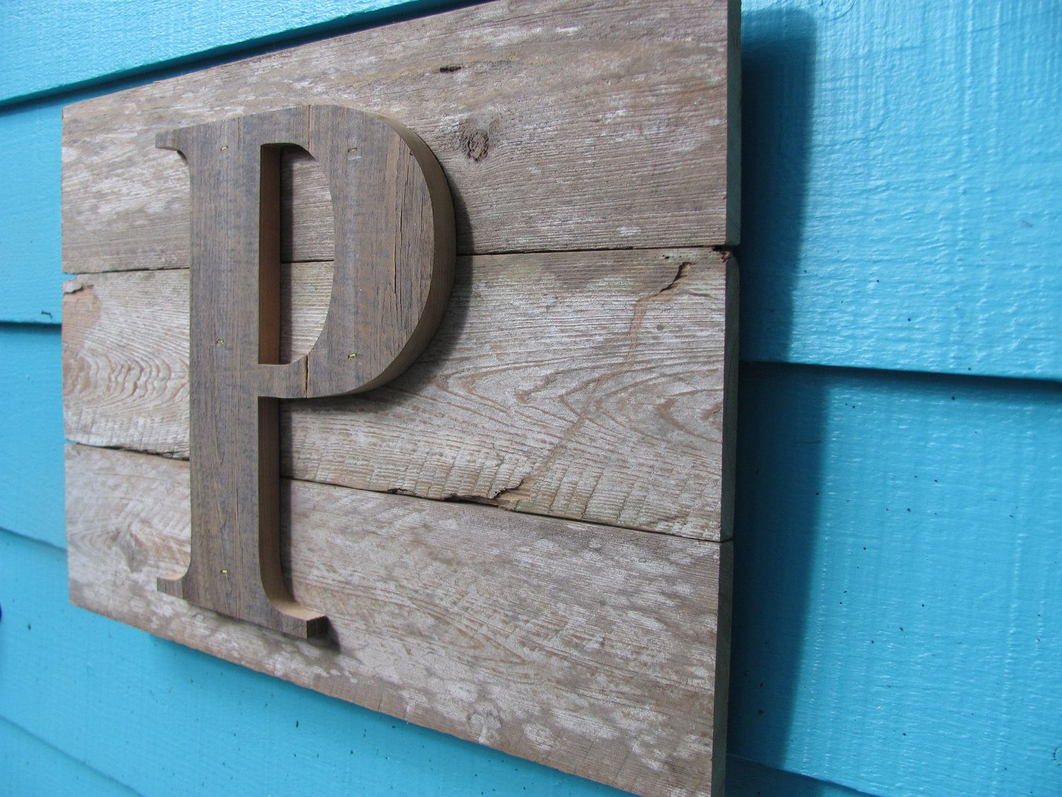 Initial Wall Decor recycled wooden wall plaque, letter initial wall decor | wooden