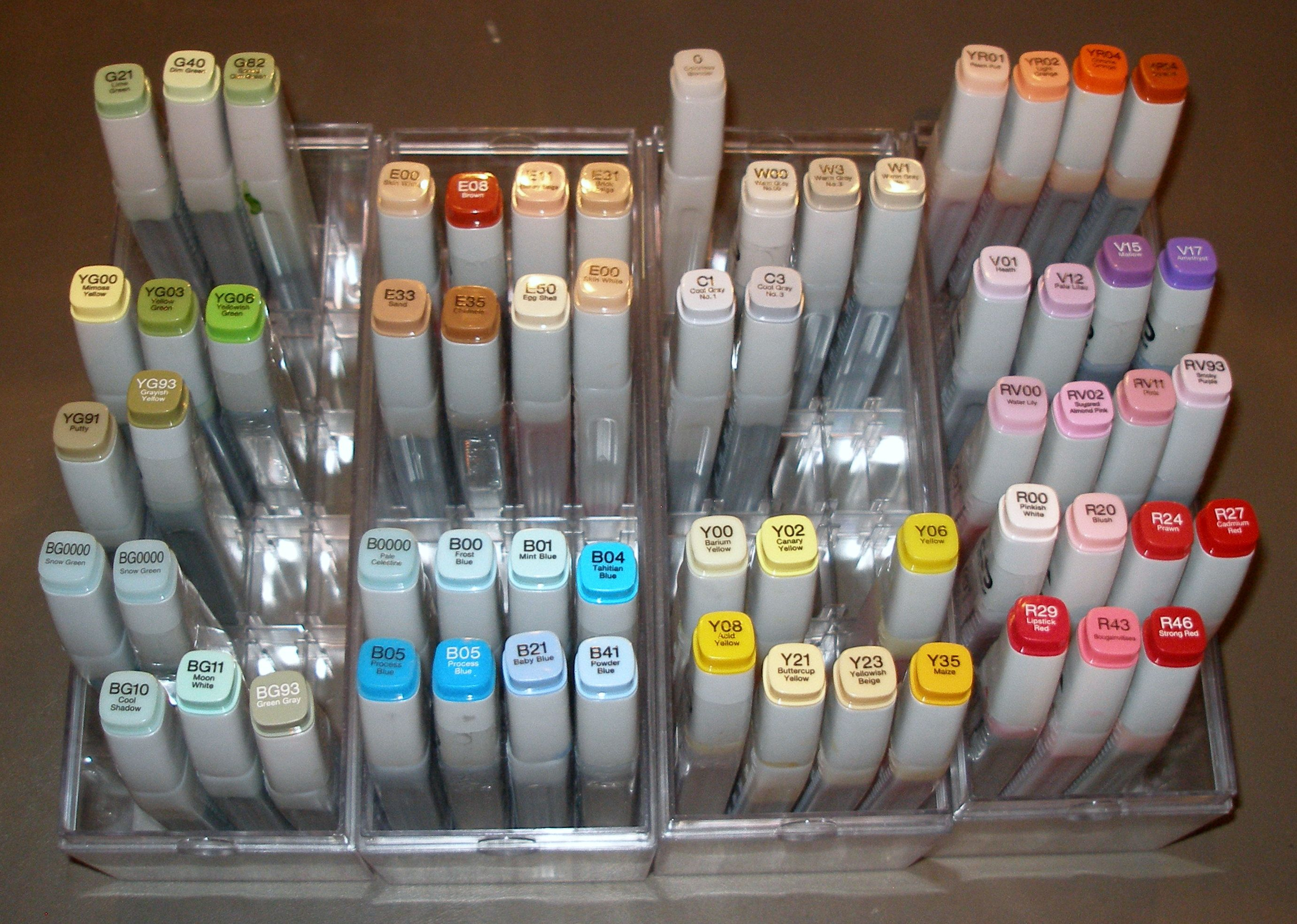 Copic Marker Refill Storage With Images Copic Marker Refills