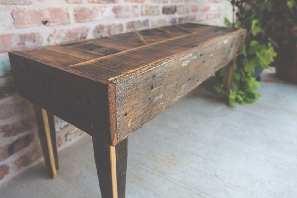 How To Build A Modern Pallet Wood Bench Diy Diy Wood Bench Wood Pallets Diy Pallet Projects
