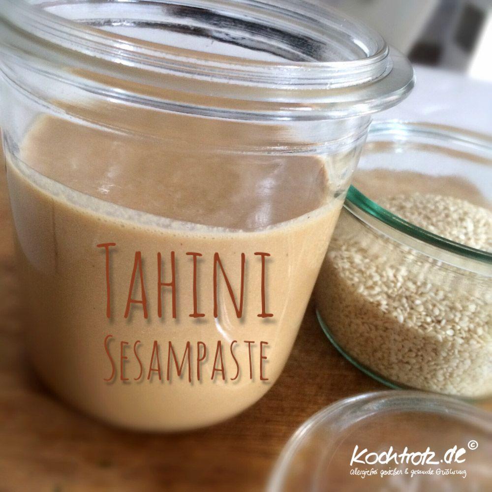 Tahini Sesampaste Selbstgemacht Fur Klassische Mixer Und Auch Thermomix Kochtrotz Kreative Rezepte Rezept Sesampaste Tahini Rezept Tahini