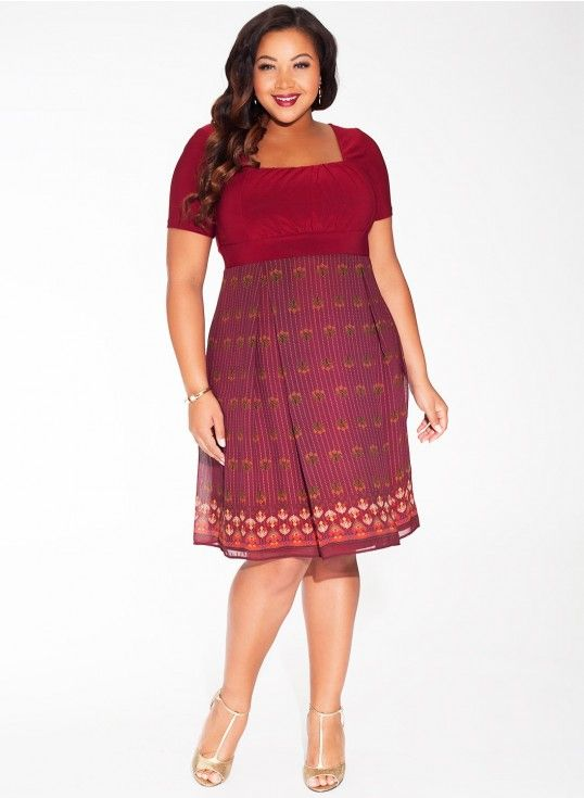 6efa07959b8 Hayleigh Plus Size Dress in Garnet Chateau at Curvalicious Clothes bbw   curvy  fullfigured  plussize  thick  beautiful Sexy  fashionista  style   fashion ...