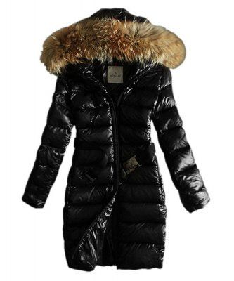 Moncler Coats Women Pure Color Hooded Fashion Black Outlet Online ...