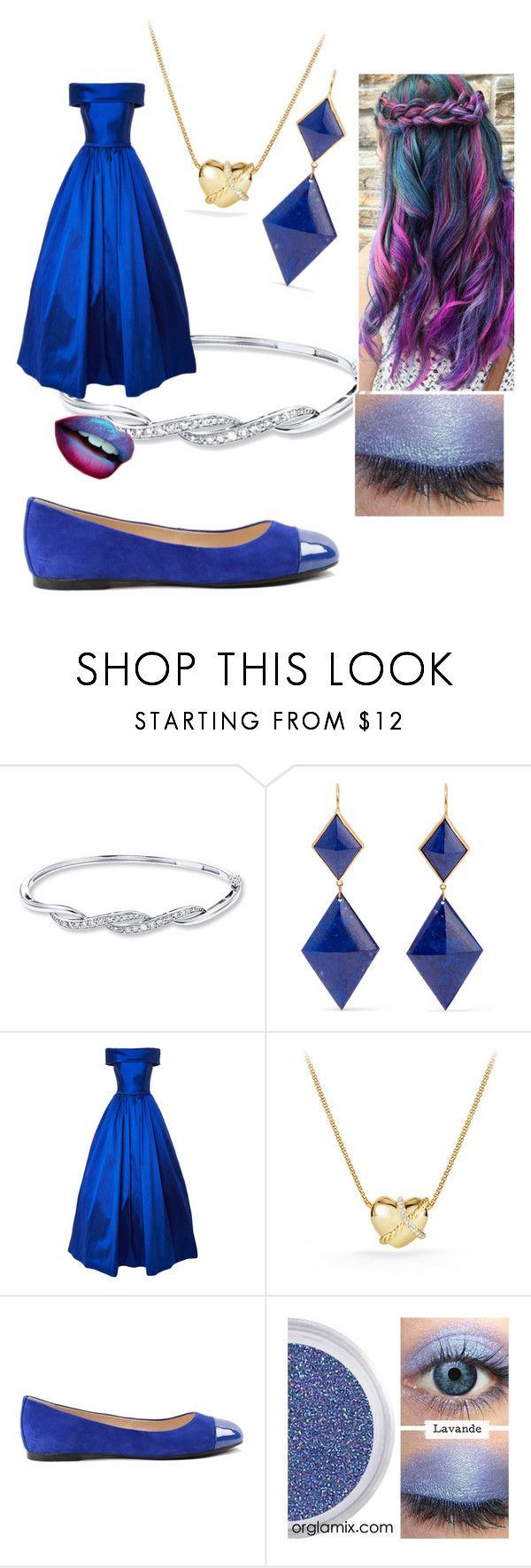 """blue date night must have"" by chianna-rodgers ❤ liked on Polyvore featuring Marie Hélène de Taillac, David Yurman and ANNA BAIGUERA"