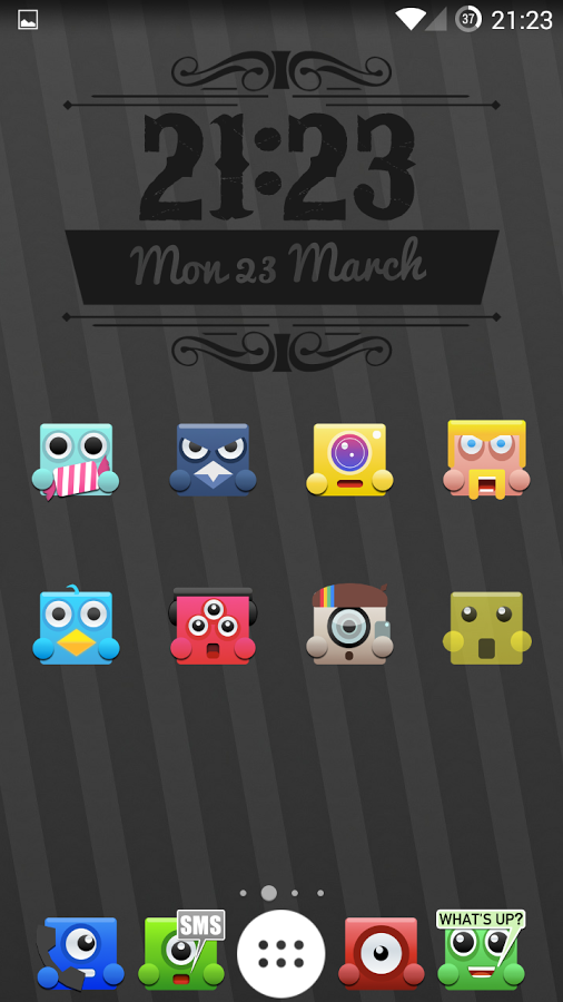 Upbeat Monsters Icon Pack Fills Your Homescreen With