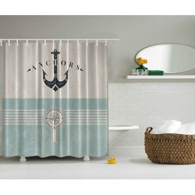 East Urban Home Ocean Lover Print Single Shower Curtain Modern