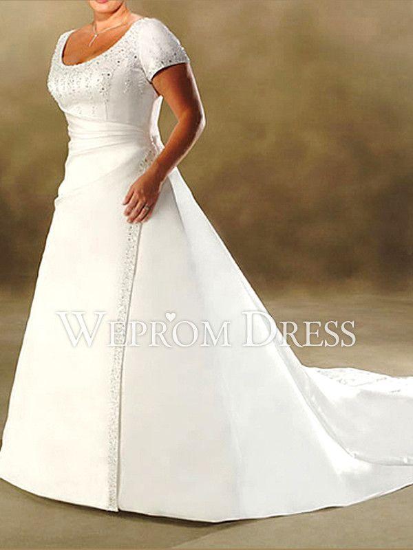 Modelos de vestidos de novia para rellenitas