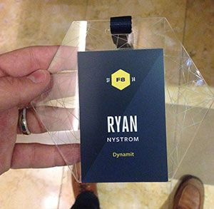 f8 conference customised name tag conference program pinterest