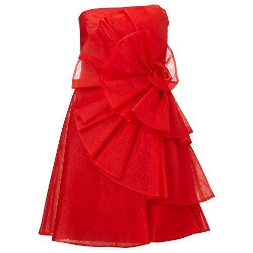 (アリエラ) レディース トップス ワンピース Ariella Red amelia silk organza short dress 並行輸入品  新品【取り寄せ商品のため、お届けまでに2週間前後かかります。】 表示サイズ表はすべて【参考サイズ】です。ご不明点はお問合せ下さい。 カラー:Red