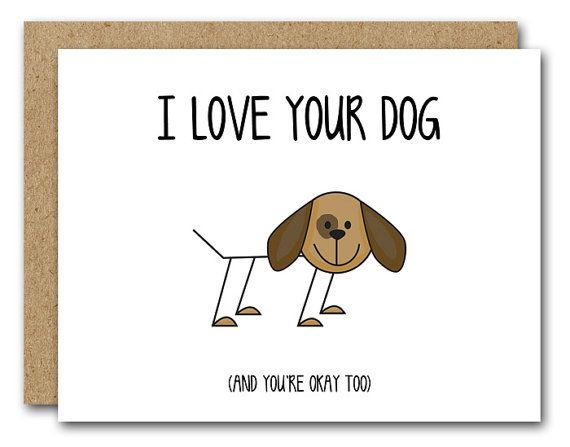 PRINTABLE Dog Card Funny I Love Your Greeting Humorous Birth