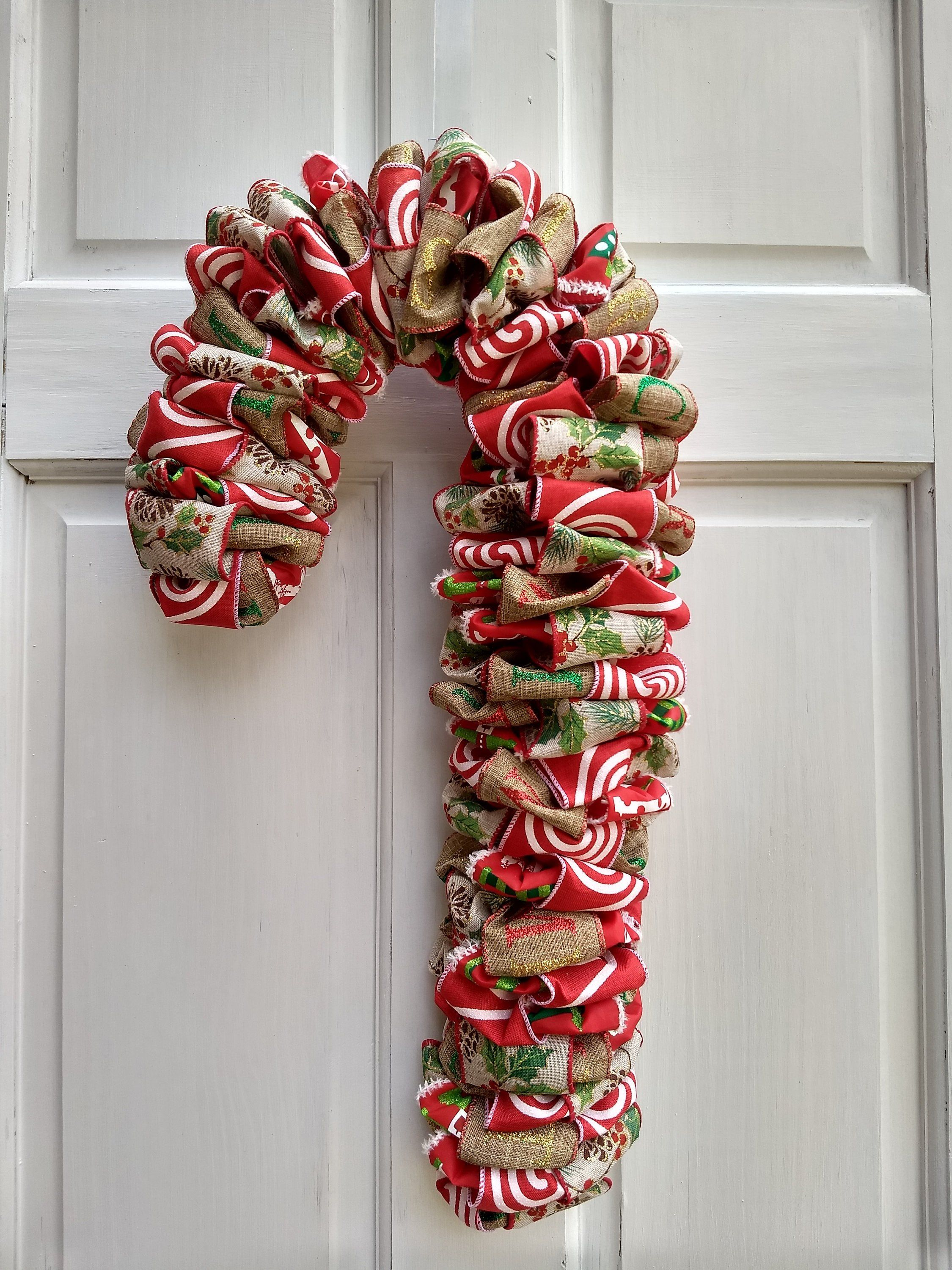 Candy Cane Decor Christmas Decor Front Door Decor Xmas Decoration Candy Cane Hanger Christmas Wreaths Diy Christmas Wreaths Diy Christmas Decorations Easy