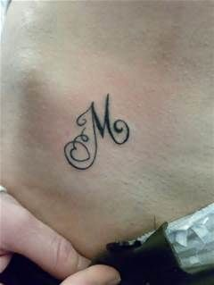 Initials In Heart Tattoo M And K