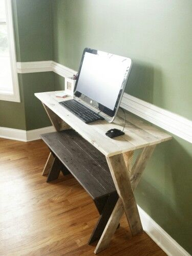 Desk made from pallet wood!