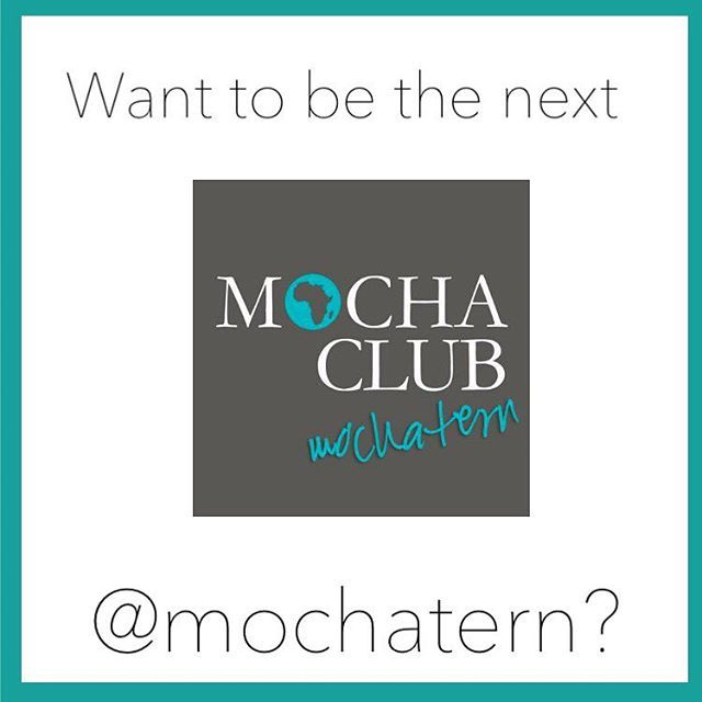 Want to have an internship experience that means a little something more?  Spring internship applications are due THIS FRIDAY! Follow @mochatern on Twitter to find out what it's like! We would love to have you! ☕️ APPLY TODAY!   http://themochaclub.org/docs/MochaClubInternApp.pdf