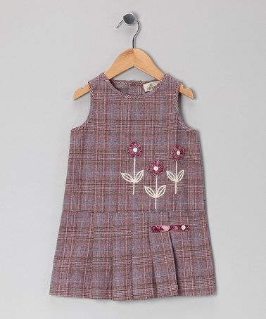 Take a look at this Purple Flower Plaid Dress - Toddler & Girls by Alouette on #zulily today!: