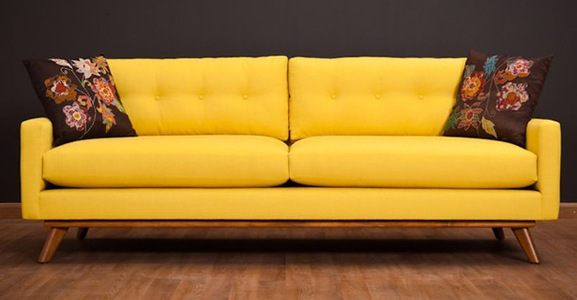 inspiring yellow sofas to perfect living room color schemes 40 rh pinterest es yellow leather sofa for sale pale yellow sofa for sale