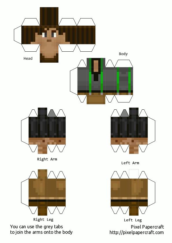Papercraft Male Jesse Minecraft Story Mode Paper Crafts Minecraft Minecraft Printables