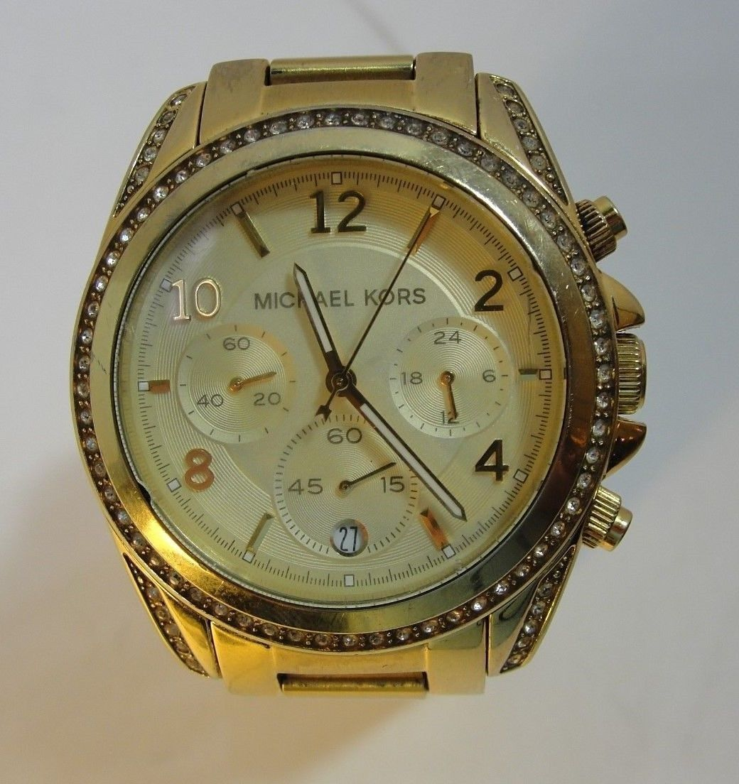Ladies' Michael Kors MK5166 Golden Blair Glitz Chronograph Watch Stainless Steel https://t.co/O1VvGtYpWK https://t.co/ZQ4QyVSQdE