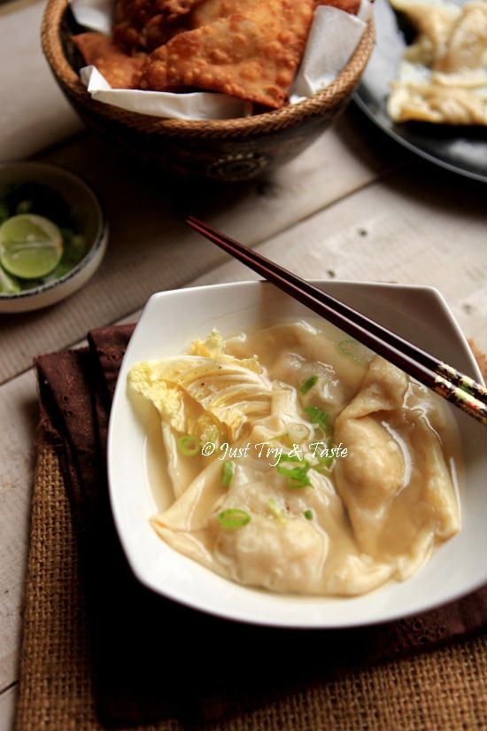 Resep Homemade Pangsit Kuah Pangsit Masakan Indonesia Masakan Asia
