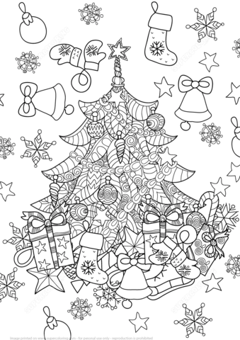 Christmas Tree Zentangle Coloring Page Christmas Tree Coloring Page Christmas Coloring Pages Free Coloring Pages