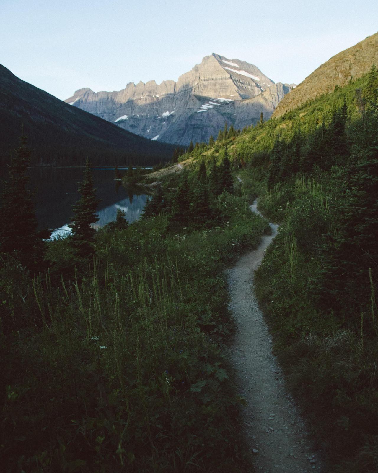 Morning stroll in glacier national park oc x
