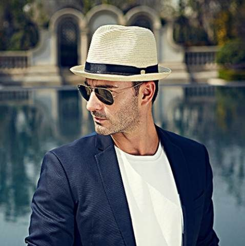 a4b7e60f13c Mens straw panama fedora hats for summer package sun hats