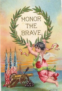 Free Vintage Post Cards for Memorial and Veterans Day | Holidays ...