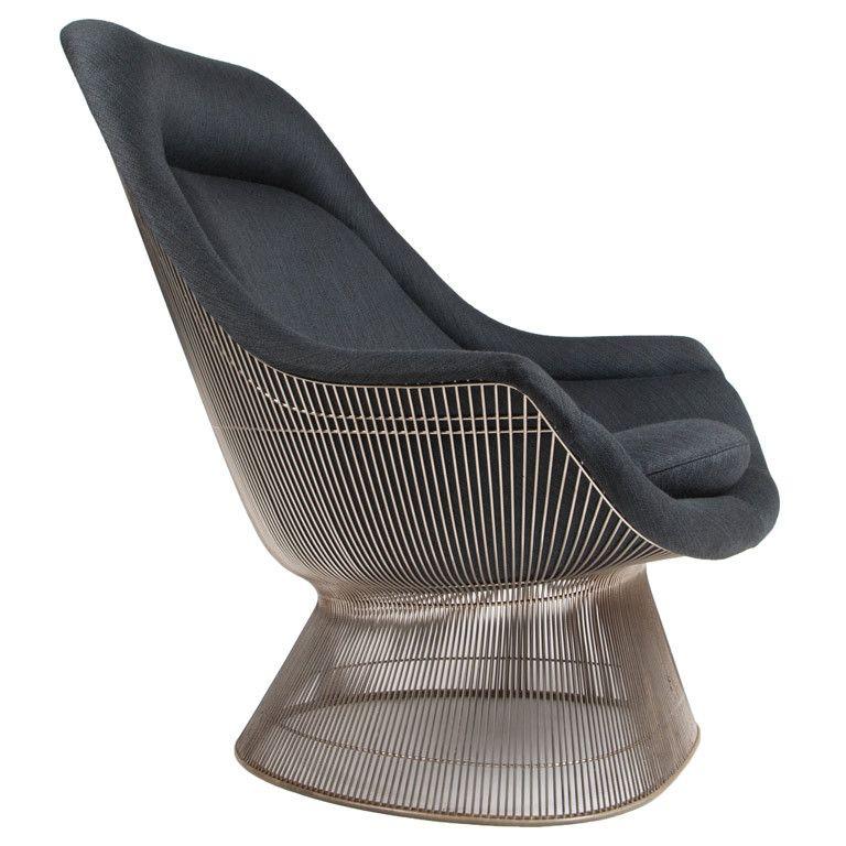 Sculptural High Back Lounge Chair By Warren Platner For