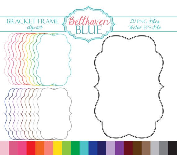 Bracket Frame Clipart Etsy Frame Clipart Clip Art Frame