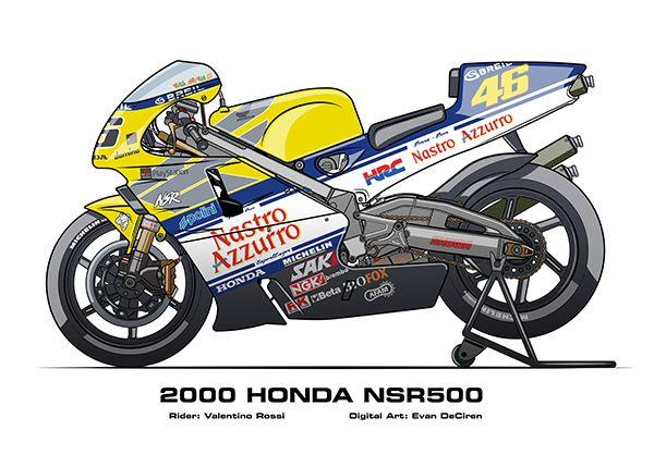 MotoART - Honda NSR500 1983 - 2002 on Behance