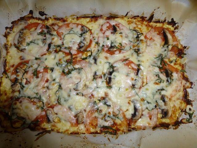 PIZZA!!!! On the Medifast Plan!!!! - cauliflower crust.