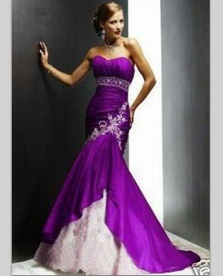 Online Get Cheap Purple Train Wedding Dress Aliexpresscom Purple Wedding Dress Wedding Dress Train Wedding Gowns Mermaid [ 1049 x 850 Pixel ]