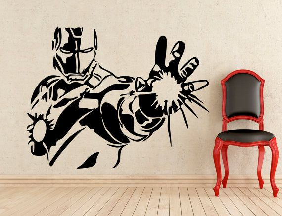 About My Wall Stickers Quality Vinyl Stickers For Any Interior - Superhero wall decals application