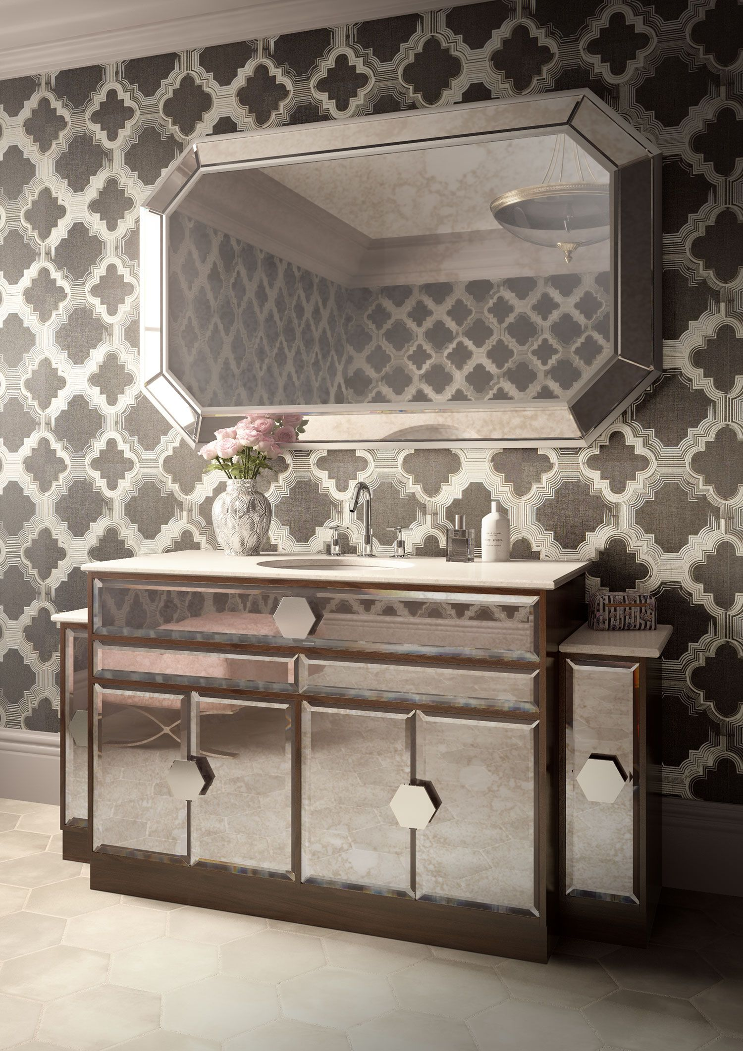 Five unique bathroom vanities make up the JVB collection at C P