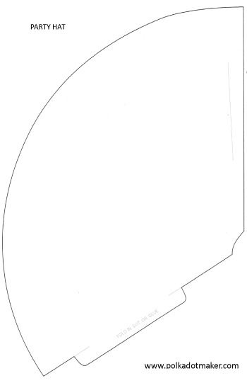 foldable hat coloring pages | Free Template | Hat template, Party hats, Unicorn party hats