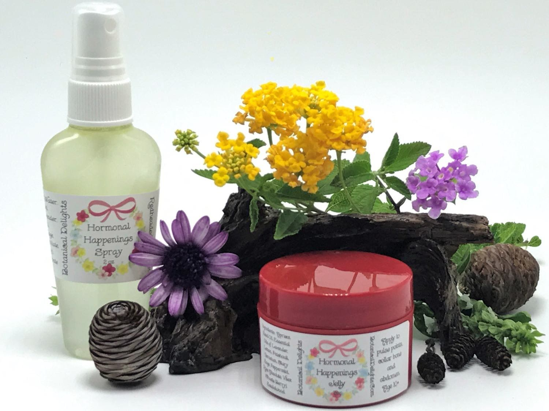 Hormonal Happenings Jelly Set- Hot Flash, PMS Essential Oil, PMS Oil, Menopause Oil, Hormone Relief, PMS Mood Swings, Hormone Oil