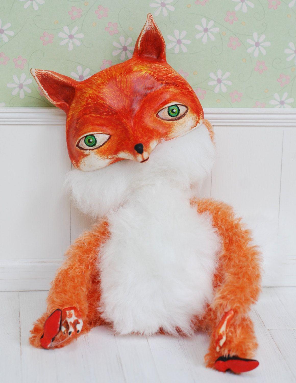 80$ + shipping, fox art doll ooak by Lena Ovcharowa & iasio