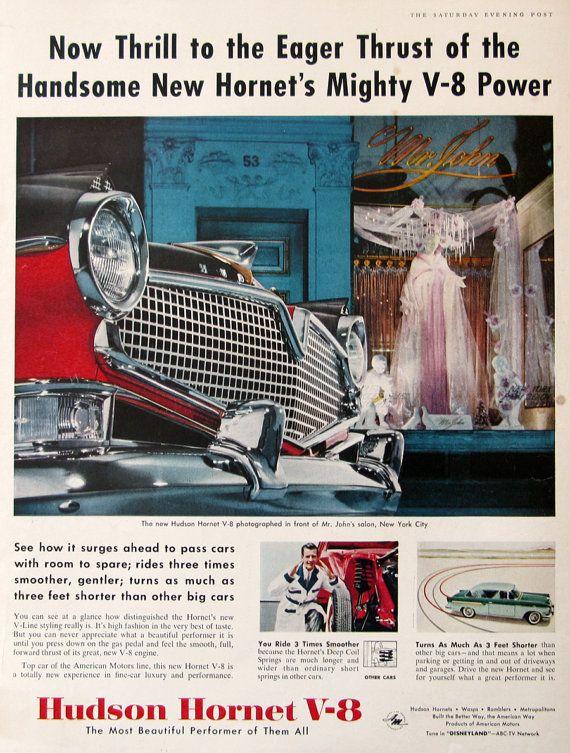 1956 Hudson Hornet V 8 Car Car Ads Hudson Hornet Automobile