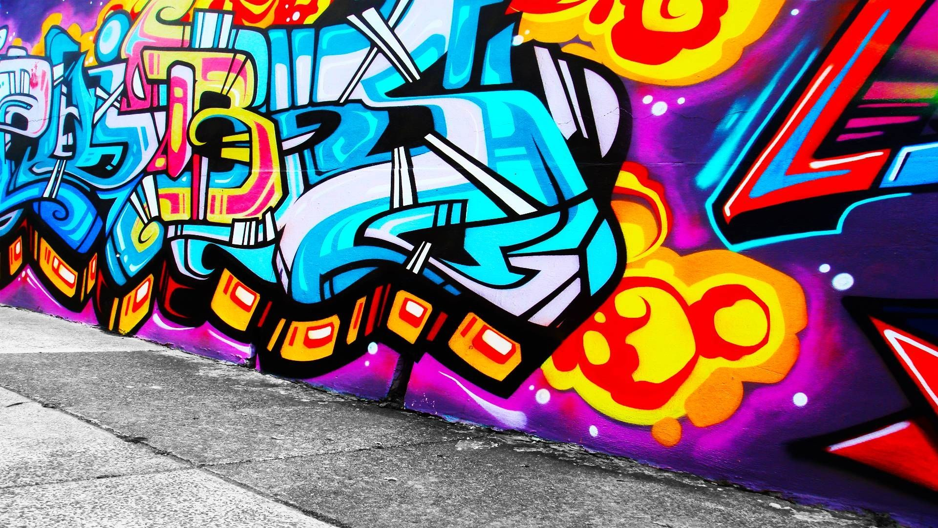 Cool graffiti wallpaper hd download free cool graffiti for Graffiti wallpaper
