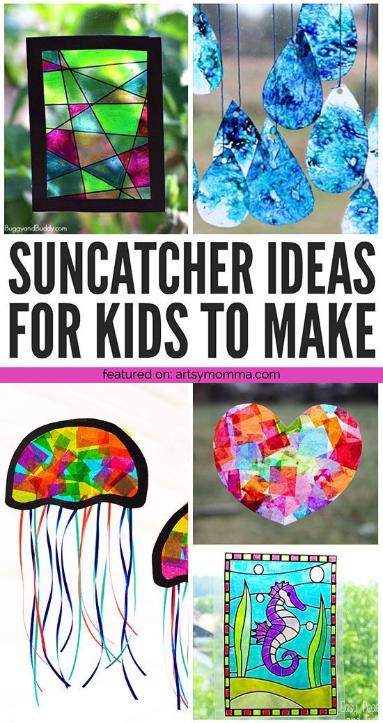 Colorful Suncatcher Crafts for Kids to Make - Artsy Momma