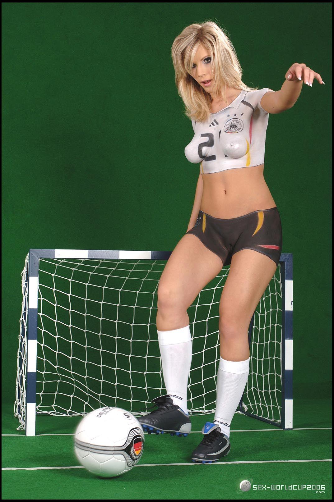 Phrase body paint women soccer team pity