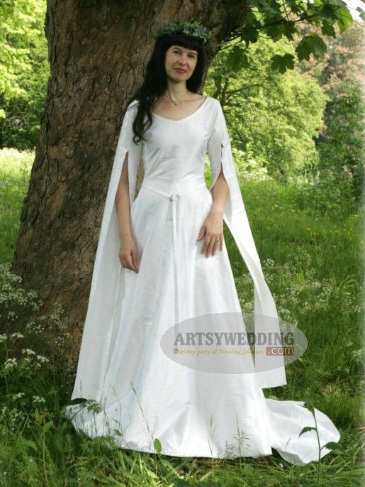 Celtic Medival Wedding Dresses - Simple yet without losing grace ...