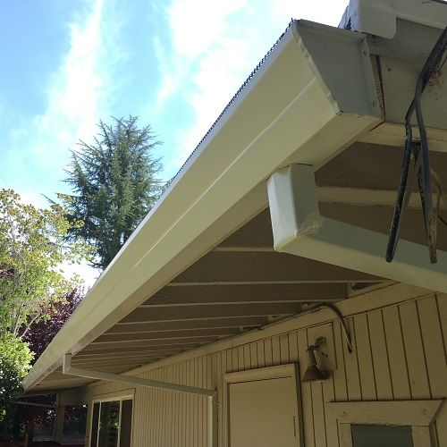 The New Fascia Gutters Look Better Than The Rotting Boards